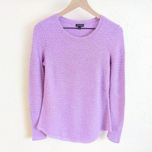 Talbots Purple Crewneck Wool Blend Knit Sweater S